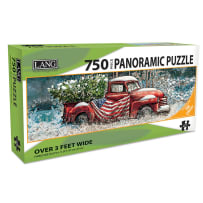 LANG 5041013 FLAG TRUCK 750 PIECE PANORAMIC PUZZLE