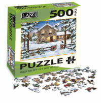 LANG 5039118 NESTLED IN TH PINES 500 PIECE PUZZLE