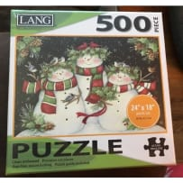 LANG 5039123 SNOWMAN FAMILY 500 PIECE PUZZLE