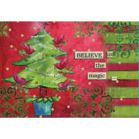 LANG 2004500 BELIEVE IN THE MAGIC PETITE CHRISTMAS CARDS