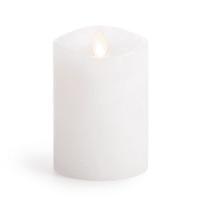 DARICE LM3240-00-2 LUMINARA FLAMELESS CANDLE UNSCENTED WHITE WAX PILLAR 4 INCH