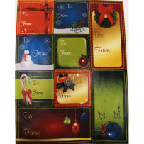 DARICE 2512-857 CHRISTMAS GIFT TAG STICKERS 9 STICKERS PER SHEET 2 SHEETS