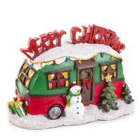 DARICE 30034719 MINISCAPE MERRY CHRISTMAS TRAILER 8.75 X 6 INCH