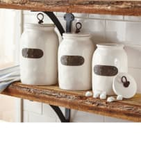 MUD PIE 4934004 BISTRO CANISTERS 3 PIECE SET