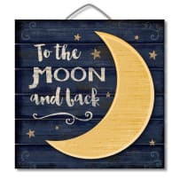 HIGHLAND  75-00105 MOON AND BACK 3D PALLET SIGN 12X12