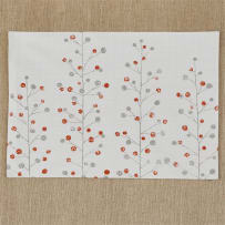 SPLIT P 2532-001 BERRY SPRIG PRINTED PLACEMAT