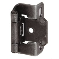 AMEROCK BPR7550WI SELF-CLOSING PARTIAL WRAP OVERLAY HINGE WROUGHT IRON 2PACK