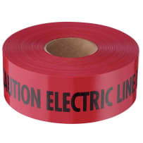 MILWAUKEE 22-126 EMPIRE CAUTION ELECTRIC LINE TAPE 1000 FT RED