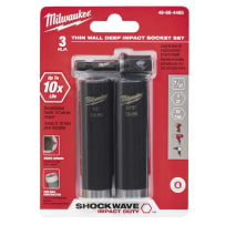 MILWAUKEE 49-66-4485 SHOCKWAVE IMPACT DUTY 1/2 INCH SOCKET SET 3 PIECE