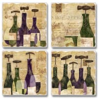 HIGHLAND  05-01054 CHIANTE CLASSICO TILE COASTERS 4PACK