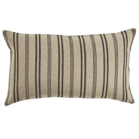 PARK DESIGNS 460-54B-P CHESTER STRIPE PILLOW WITH POLY INSERT 12X20 BLACK