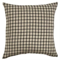 PARK DESIGNS 459-53B-P STONEBORO CHECK PILLOW WITH POLY INSERT 20 INCH BLACK