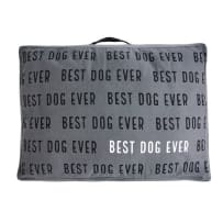 MUD PIE 5003032 WASHED CANVAS DOG BED LARGE GRAY
