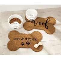 MUD PIE 5003011 WOOF DOG BOWL PLACEMAT