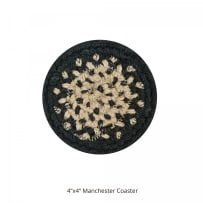 HOMESPICE 590725 BRAIDED COASTER 4 INCH MANCHESTER BLACK
