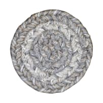 HOMESPICE 590695 BRAIIDED COASTER 4 INCH PEWTER