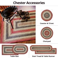 HOMESPICE 590718 BRAIDED COASTER 4 INCH CHESTER RED BROWN