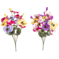 DARICE 30048400 PANSY BUSH ASSORTED COLORS 8 X 16 INCH