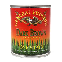 GENERAL FINISHES PT. DK.BRN DYE STAIN WATER BASED BROWN PINT