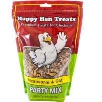HAPPY HEN TREATS 698937 MEALWORM & OAT PARTY MIX 2 LB