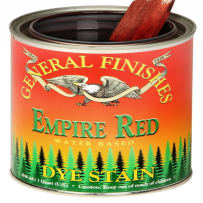GENERAL FINISHES PT. EMPIRE RD DYE STAIN WATER BASED EMPIRE RED PINT