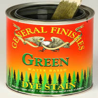 GENERAL FINISHES PT.GREEN DYE STAIN WATER BASED GREEN PINT