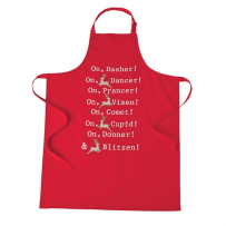 MUD PIE 4265440 CHRISTMAS APPLIQUE APRON RED