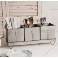 COLONIAL TIN WORKS 770118 THREE BIN UTENSIL CADDY