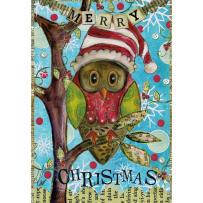 LANG 2004515 HOLIDAY OWL PETITE CHRISTMAS CARDS