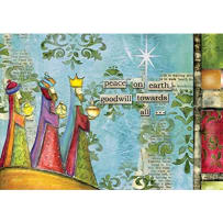 LANG 2004502 PEACE ON EARTH PETITE CHRISTMAS CARDS