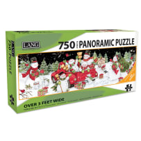 LANG 5041017 SNOWY DAY 750 PIECE PANORAMIC PUZZLE
