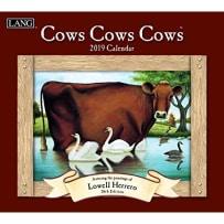LANG 19991001909 COWS COWS COWS 2019 CALENDAR