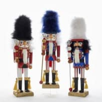 KURT ADLER HA0362 HOLLYWOOD RED WHITE AND BLUE SOLDIER NUTCRACKERS 18 INCH ASSORTED