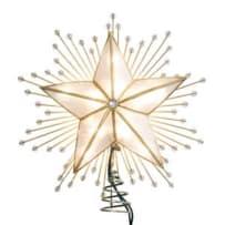KURT ADLER UL3073 CAPIZ STAR WITH RAYS AND BEADS LIGHTED TREETOP