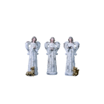 TRANSPAC Y1867 SMALL RESIN ANGEL FIGURINE 3 ASSORTED