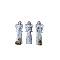 TRANSPAC Y1866 LARGE RESIN ANGEL FIGURINE 3 ASSORTED