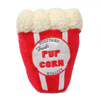 FUZZYARD FZ521 POPCORN PLUSH DOG TOY WITH SQUEAKER