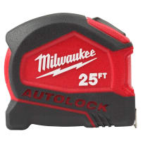 MILWAUKEE 48-22-6825 COMPACT AUTO LOCK TAPE MEASURE 25 FOOT
