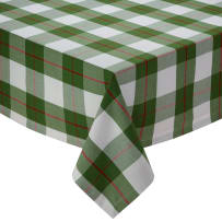 DESIGN IMPORTS 91383 HOLLY DAY PLAID TABLECLOTH 60X84