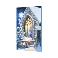 TIMELESS BY DESIGN X47884 LIGHTED MUSICAL MAGIC MANGER CANVAS