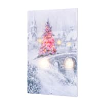 TIMELESS BY DESIGN X47880 LIGHTED MUSICAL MAGIC CHRISTMAS BRIDGE CANVAS