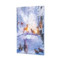TIMELESS BY DESIGN X47878 LIGHTED MUSICAL MAGIC FOREST MAGIC CANVAS
