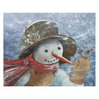 TIMELESS BY DESIGN 83092 SNOWY SNOWMAN CUTTING BOARD