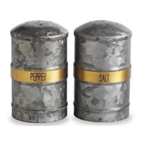 MUD PIE 4504006 TIN SALT AND PEPPER SHAKER