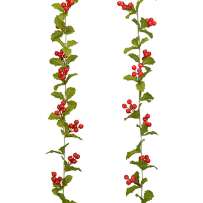 DARICE 30037793 CHRISTMAS BERRY GARLAND RED 2 INCHES X 6 FEET 2 STYLES