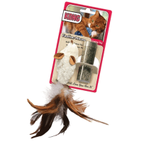 BCI 269563 FEATHER MOUSE CAT TOY