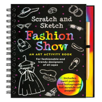 PETER PAUPER PRESS 8273 FASHION SHOW SCRATCH AND SKETCH