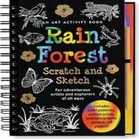 PETER PAUPER PRESS 8624 RAIN FOREST SCRATCH AND SKETCH