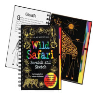 PETER PAUPER PRESS 9714 WILD SAFARI SCRATCH AND SKETCH