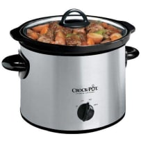 3 Qt Round Slow Cooker Stainless Steel